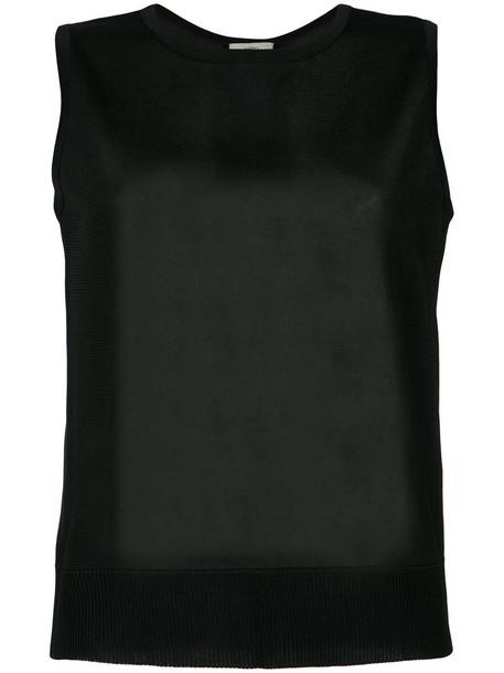 EGREY blouse women black knit top