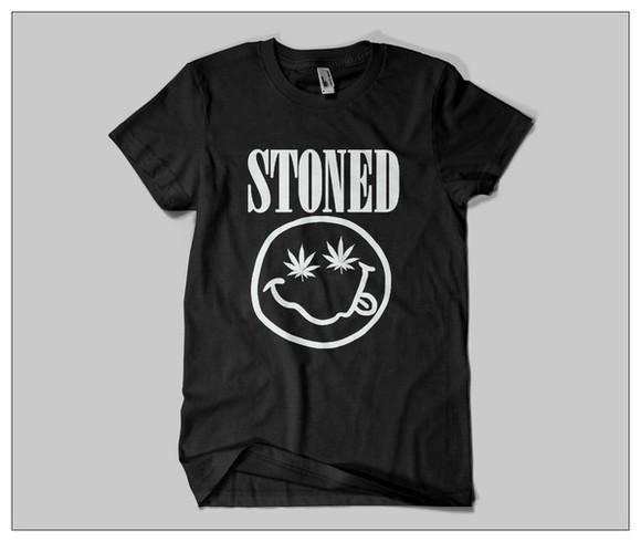 style stone t-shirt stoned t-shirt stoner stoned quote on it weed weed shirt weed t-shirt weed tshirt
