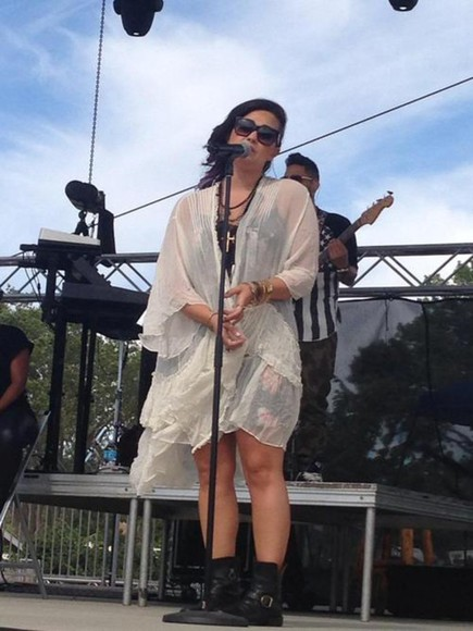 coat dress demi lovato