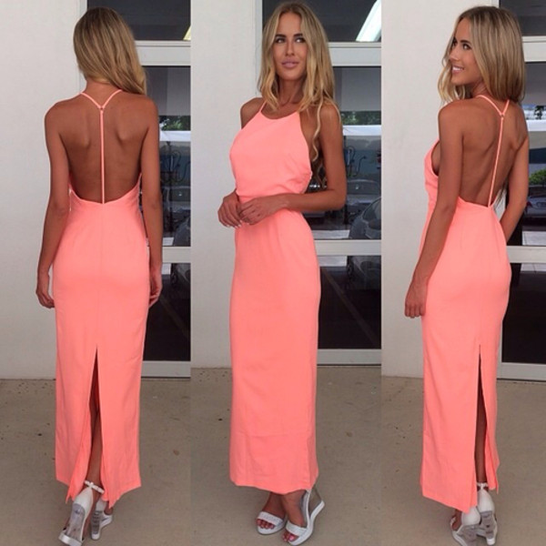 Платье на лето с открытой спиной