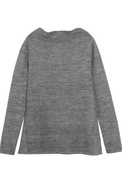 Stella McCartney - Draped Stretch-knit Sweater - Gray
