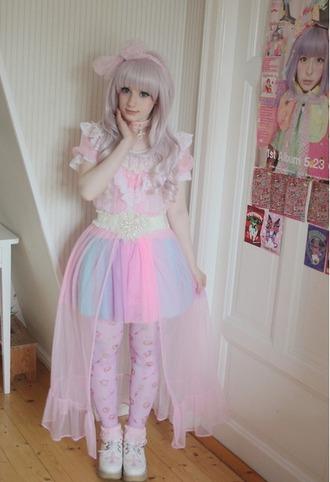 skirt tutu rainbow fairy kei