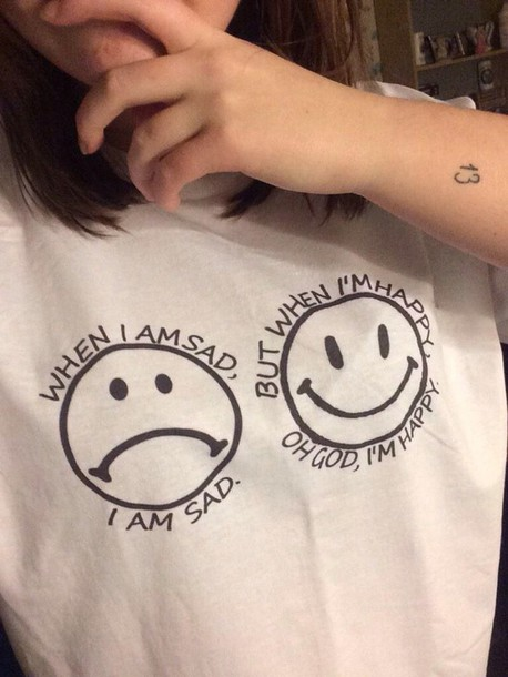 shirt happy smiley sad face