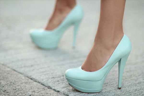 shoes heels blue heels high heels platform heels cute cute high heels turquoise pump