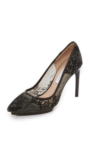 c4ad484409d Diane Von Furstenberg Diane Von Furstenberg Madrid Lace Pumps - Black
