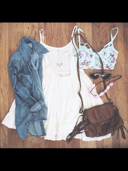 white dress summer dress top cute summer outfits