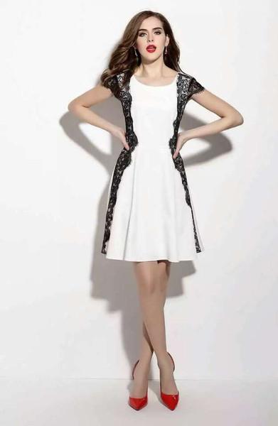 White / Pink Boutique Dress