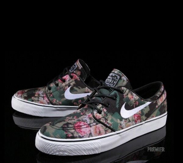 shoes nike nike air nike sb digital camouflage trainers skateboard niks stefanjanoski floral floral