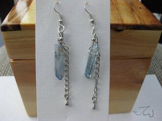 jewels earrings handmade crystal quartz crystal earrings quartz blue quartz gemstone blue crystal dangle dangle earrings handmade earrings handmade jewelry