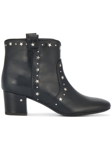 LAURENCE DACADE studded women ankle boots leather black shoes