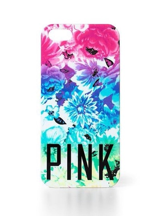 phone cover pink by victorias secret pink victoria's secret floral pretty girly girly wishlist