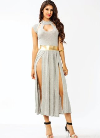 Amazon.com: Best Cody Women's Cut-Out Slit Maxi Dress: Clothing