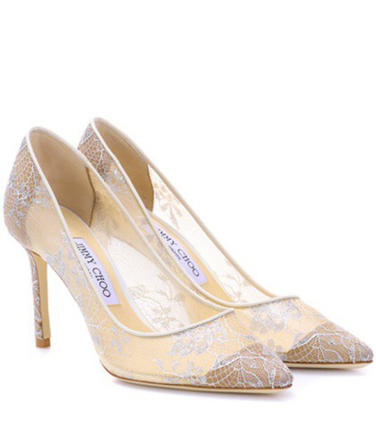 Jimmy Choo pumps lace white shoes