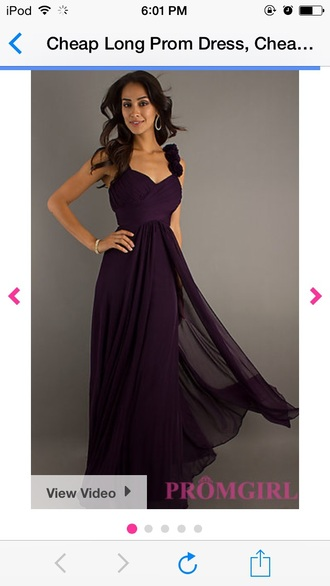 dress long prom dress purple dress simple dress