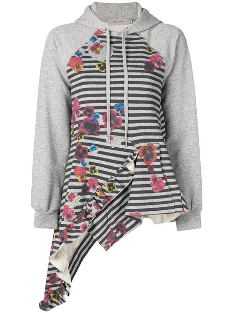 Preen Line hoodie women cotton grey sweater