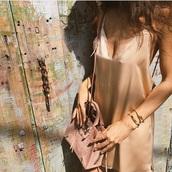 bag,suede,pink,purse,handbag,suede bag,dress