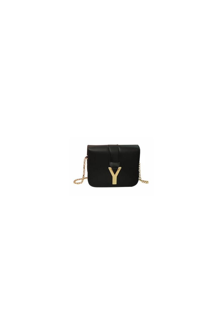 URSULA Y-Letter Shoulder Bag |Black| In Bags | JESSICABUURMAN [5822] - $55.00 : JESSICABUURMAN.COM