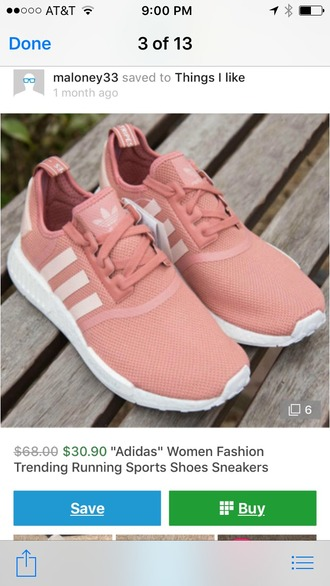 shoes sneakers adidas nmd pink sneakers
