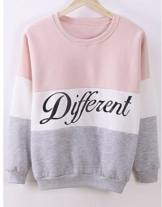 sweater girl girly girly wishlist pink sweatshirt