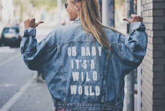 levi's love quotes model off-duty abercrombie & fitch cool jacket denim jacket quote on it