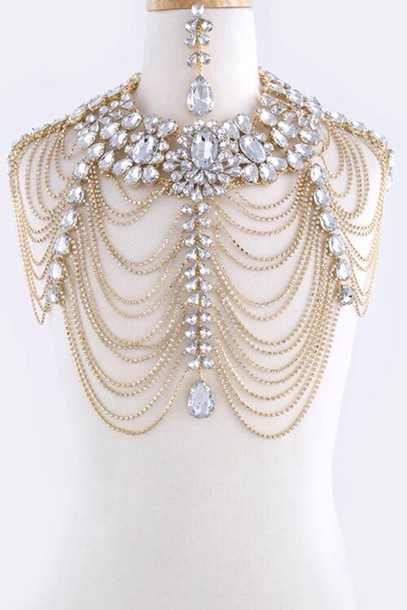 Jewels chain body chain body chain classy vintage for Body jewelry cheap prices