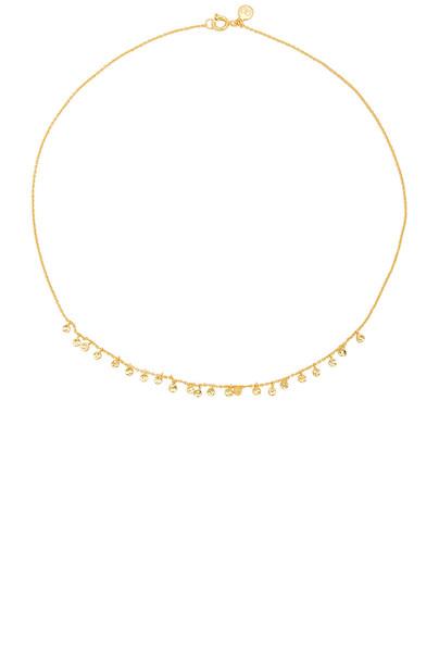 gorjana mini necklace metallic gold jewels