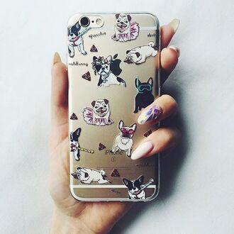 phone cover yeah bunny pugs frenchie dog dog print cute poop iphone cover iphone iphone case