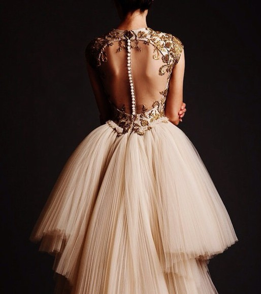 dress tumblr ivory dress beaded long dress formal dress prom dress pretty dress long prom dress long evening dresses no back gorgeous dress amazing gold tumblr dress
