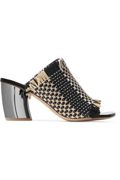 Proenza Schouler mules leather black shoes