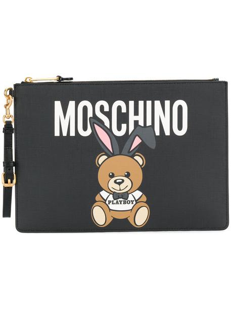 Moschino women clutch black bag