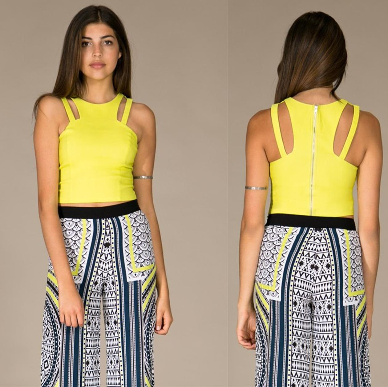 Cutout strapped crop top · trendyish · online store powered by storenvy
