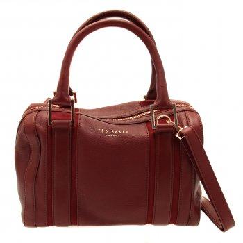 Buy Womens Ted Baker Kamilio Mini Bowler Bag in Oxblood at Hurleys