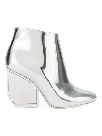 metallic boots ankle boots shoes