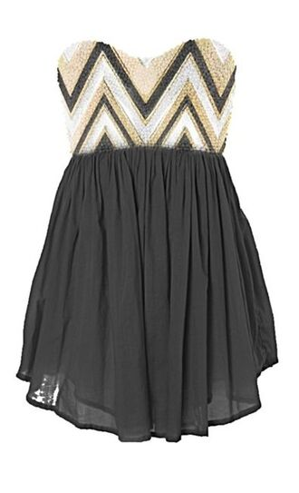 dress strapless dress black dress gold silver homecoming short dress