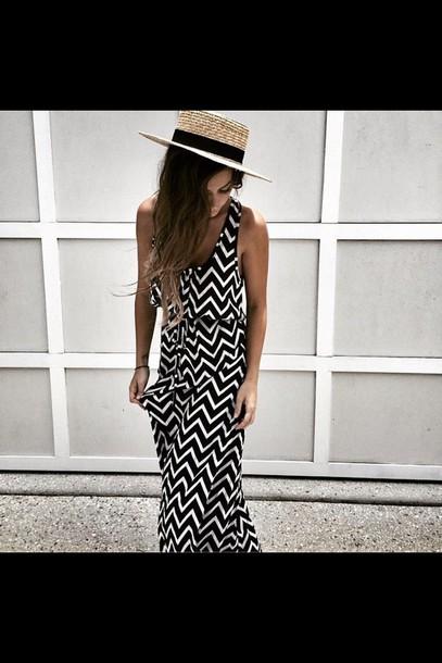 dress black and white dress maxi dress