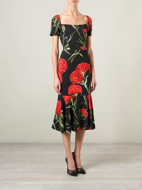 Dolce & gabbana carnations print dress