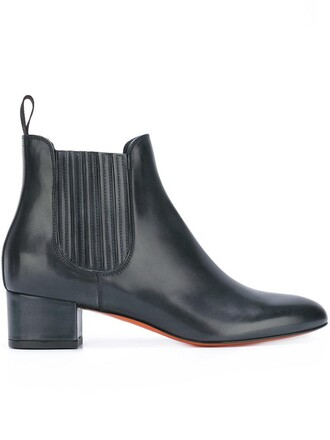 women classic boots chelsea boots leather black shoes