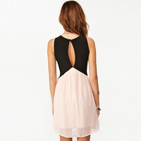 56339bb Contrast color stitching on the back hollow out chiffon vest dress · Eternal · Online Store Powered by Storenvy