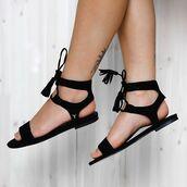 shoes,windsor smith,peppermayo,black suede,suede,tassel,shoe tassels,sandals,summer sandals,flats