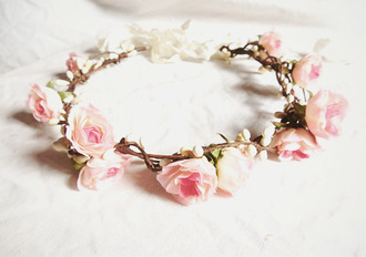 hat hair accessory flower hairband pink gold roses flowers hipster wedding pink flowers flower crown jewels flowers hair