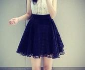 skirt,black,puffy