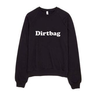 shirt black sweatshirt black sweatshirt dirtbag