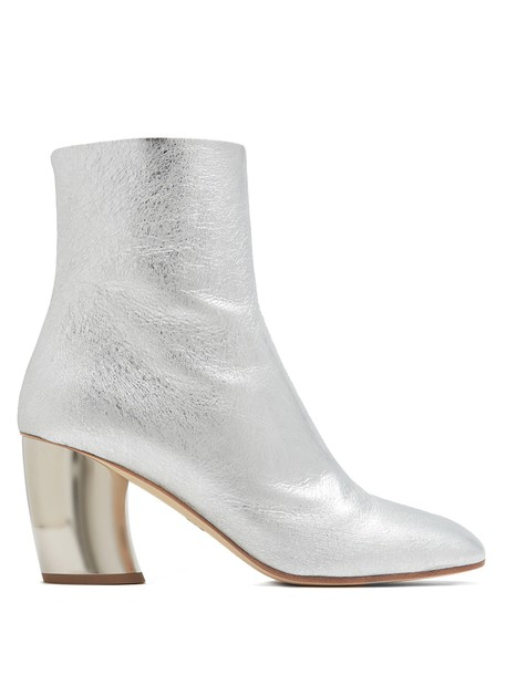 Proenza Schouler heel leather ankle boots ankle boots leather silver shoes