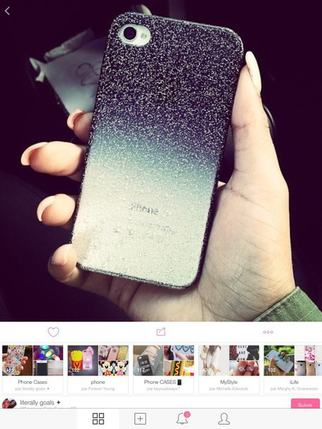 phone cover glitter ombre phone cover iphone 5 case tumblr outfit weheartit