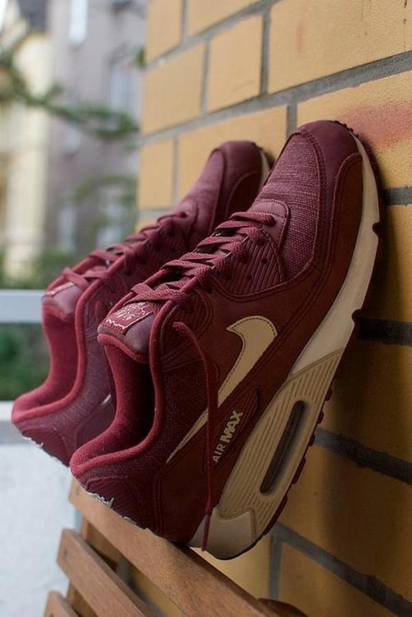 Shoes: air max, nike, nike air, maroon air max, air max, red, dress -  Wheretoget