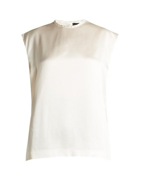 Haider Ackermann blouse high silk satin top