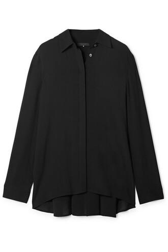 blouse chiffon blouse chiffon pleated black top