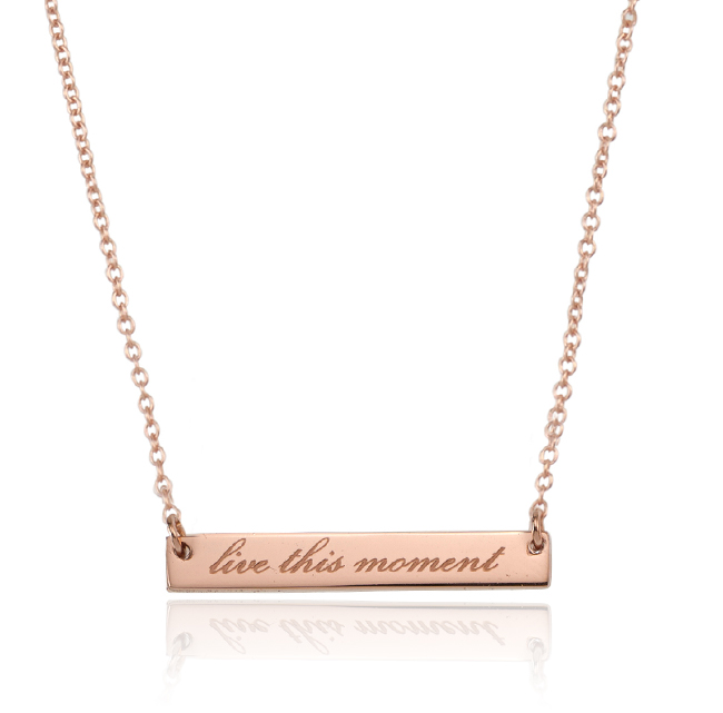 LIVE IN THE MOMENT NECKLACE - ROSE
