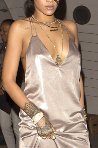 dress rihanna silk dress silk