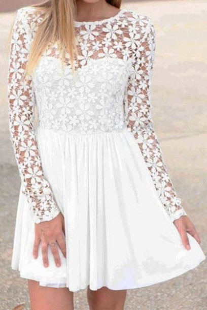 dress white flowers